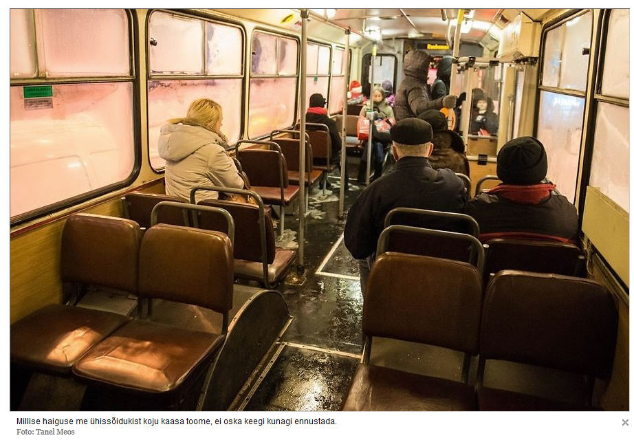 Komunistinį elsperimentą viešojo transporto srityje įgyvendinančiame Talinę autobusai atrodo ne kaip. O žmonės viešai vis pasvarsto ne kaip jais važiuoti, o apie netvarką ir užkrečiamas ligas juose.